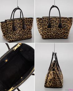 This is the ultimate tote for Fall > Prada's leopard-print Cavallino