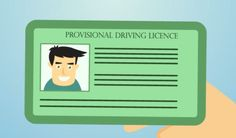 Before you can drive as a learner, you'll need a provisional licence. This licence looks just like a real driving licence, 'cept for an L in the corner. There's a few requirements, but no tests and basically once you're 17 (or have lived here for six months), apply and you'll have it in a week.