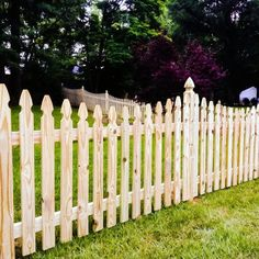 Scalloped picket fence Picket fence design ideas Low level fence Limited privacy Fence Family fence Fences for children Pet containment fences Dog fences Wood Picket Fence, Brick Fence, White Picket Fence, Wood Fences, Fencing, Fence Gates, Front Fence, Cedar Fence, Dog Fence