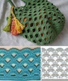 Para copiar: 20 Modelos de bolsa sacola de crochê – Crochet and Knitting Patterns – The Best Ideas Poncho Crochet, Crochet Diy, Crochet Tote, Crochet Handbags, Crochet Purses, Crochet Stitches, Knitting Projects, Crochet Projects, Knitting Patterns