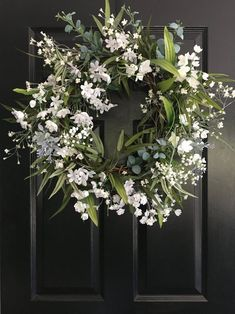 Elegant White Wreath / Spring Wreath / Summer Wreath / Farmhouse Decor / Greenery Wreath / Wreath / Housewarming Gift / Fixer Upper - Lilly is Love