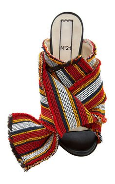 Knotted Stripey Mule by No. 21 for Preorder on Moda Operandi $655
