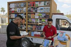 Bookstore on wheels turns heads in Baghdad