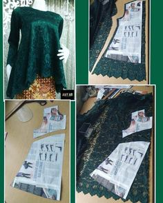 Costura facil Archives - Best Sewing Tips Frock Patterns, Dress Sewing Patterns, Blouse Patterns, Sewing Patterns Free, Clothing Patterns, Kebaya Brokat, Kebaya Dress, Pattern Draping, Sewing Blouses