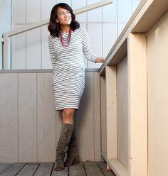 Bailey44 Signature Striped Column Dress #myb44style
