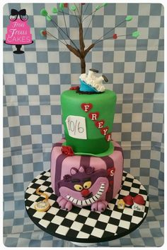 Mad Hatter and the Treasure Cat - Cake by Frou Frous Cakes