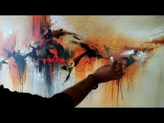 "Abstract painting / Demonstration of abstract painting ""Painted Rythm"" / Acrylics Abstract Painting Easy, Acrylic Painting Techniques, Painting Videos, Abstract Canvas, Art Techniques, Landscape Paintings, Art Paintings, Texture Painting, Palette Knife"