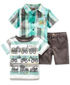 Adorable and easy-to-clean, this set from Nannette will keep him looking sharp and feeling comfortable. Toddler Outfits, Baby Boy Outfits, Kids Outfits, Baby Boy Fashion, Kids Fashion, Toddler Boys, Baby Boys, Lil Boy, Baby Kids Clothes
