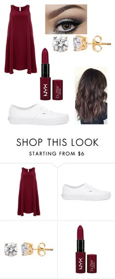 """""""Casual Maroon Outfit"""" by kitkat308 on Polyvore featuring Finery London, Vans and Urban Decay"""