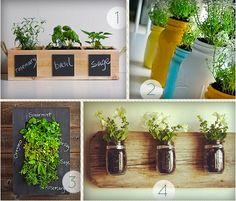 Ces idées de jardins d'intérieurs pour faire pousser des fines herbes ou des plantes est tout droit sortie du blog More Design Please. Je sais pas pour vous, mais moi je trouve que d&rs…