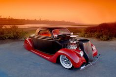 Hot Rod at Dusk...Sweet Hot Rod brought to you by House of Insurance in #Eugene