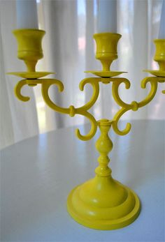 Awesome way to update old brass candlesticks