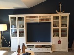 Our TV until in the Hamptons inspired Lake Summerside show home is the LIATORP from Ikea. http://www.ikea.com/ca/en/catalog/products/S39046064/