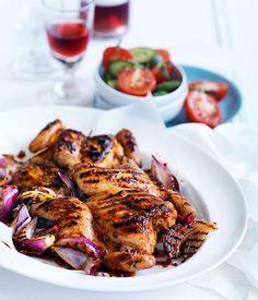 Piri piri chicken with tomato and onion salad. was delicious!
