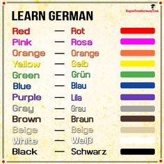 Say these phrases when you are greeting business associates and learn basic german learn how to say the names of different colors in german m4hsunfo