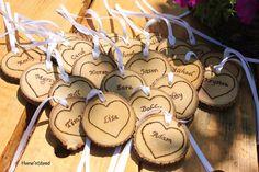 Round Heart Tokens w/ Your Custom Names by thatfamilyshop.com