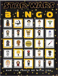 Star Wars Bingo Free Printables