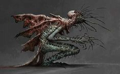 ArtStation - Nun of the Church of the Metamorphosis, mike franchina Dark Creatures, Alien Creatures, Fantasy Creatures, Mythical Creatures, Monster Concept Art, Fantasy Monster, Monster Art, Creature Concept Art, Creature Design