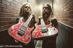Che meraviglia... E che personaggi!  . . . @Regrann_App from @officialibanezguitars -  Ibanez artists Tim Öhrström (@timavatar) and Jonas 'Kungen' Jarlsby (@kungen_avatar) from Swedish metal band Avatar (@avatarmetal) showing off their custom RG3770FZ. Check them out on the remaining dates of their US tour followed by a European tour. : @sarahmankoffphoto #ibanez #ibanezguitars #rg #avatar - #regrann  #musica #chitarre #chitarra #chitarrista #bologna #bolo