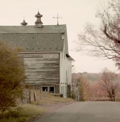 Large Barn Photo Autumn Down the Road vintage by semisweetstudios, $90.00