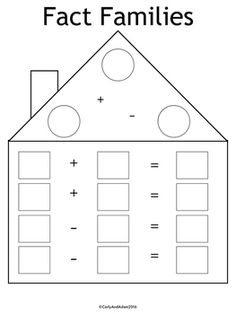 best multiplicationdivision images  math activities  free fact family worksheets