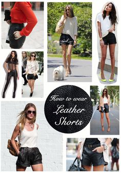 HOW TO: STYLE LEATHER SHORTS | Blog | The Style Net | Online fashion shopping directory