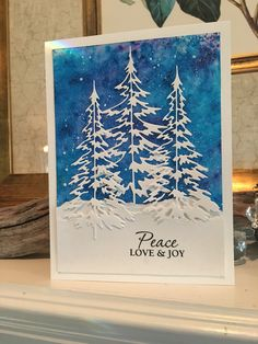 Christmas Cards 2018, Stamped Christmas Cards, Simple Christmas Cards, Homemade Christmas Cards, Xmas Cards, Christmas Greetings, Homemade Cards, Holiday Cards, Winter Cards