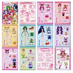 Precure 5 Go Go! Dress-Upl Book (きせかえ) Original Japanese Import ISBN Size @ 18 x cm 8 card board pages This is a dress-up doll book. The paper dolls are on sturdy cardboard punch outs and feature all the main characters and several outfits and… Cake Drawing, Mermaid Melody, Paper Dolls Printable, Glitter Force, Anime Toys, Dress Up Dolls, Miniature Crafts, Pretty Cure, Japanese Imports