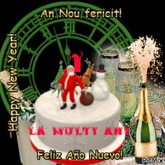An Nou fericit!W4 An Nou Fericit, Anul Nou, Birthday Cake, Desserts, Food, Happy, Birthday Cakes, Meal, Deserts