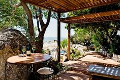 Enjoy a glass of the best South African wines on this beautiful patio