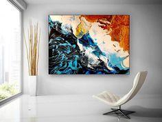 Abstract Art-Original Painting Industrial Decor Dine Room image 2 Large Artwork, Large Canvas Wall Art, Colorful Artwork, Extra Large Wall Art, Large Painting, Canvas Art, Original Paintings, Original Art, Texture Art