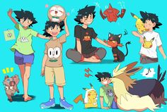 Ash being cute --Pokemon--