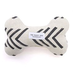 Modern Mud Cloth Natural Dog Squeaky Toy – The Foggy Dog Dog Bones, Recycle Plastic Bottles, New Puppy, Deco, Fur Babies, Your Dog, Puppies, Eco Friendly, Upholstery