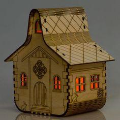 solar wooden nightlight - old chapel by lumilight
