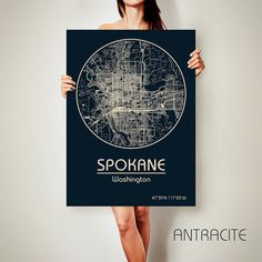 SPOKANE Washington City Map Spokane Washington Art Print Spokane Washington poster Spokane Washington map art United States of America Poster Spokane Washington state Spokane Washington wall art Spokane Washington design city map poster Spokane Washington map  Get a discount on this map! To see all offers, click here: https://www.etsy.com/shop/ArchTravel?ref=hdr_shop_menu&section_id=19169258  ♛COLORS, QUALITY AND DETAILS:  ★Impressive High Detailed Map  ★Stylish BAUHAUS Design!  ★The DEEP…