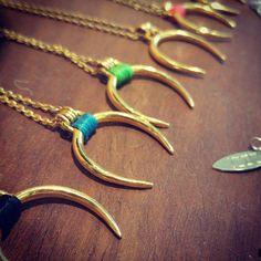 Gold Crescent Necklace, Tusk necklace, Everyday Horseshoe necklace, Boho Pendant, Silver Horseshoe Necklace, Crescent Pendant, Moon Necklace