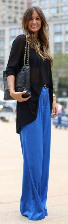 Palazzo Pants With Long Shirts Trends 2014 For Girls fall spring outfits womens fashion clothes style apparel clothing closet ideas