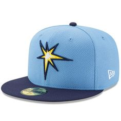 Tampa Bay Rays New Era Diamond Era 59FIFTY Fitted Hat - Light Blue/Blue
