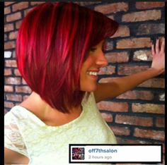 Stylish Red Bobs to Try for the New Season Beautiful! Red and bright red hair manc manc Mayo this is cute. Dark red and bright red. Red and bright red hair manc manc Mayo this is cute. Dark red and bright red. Love Hair, Gorgeous Hair, Pretty Hairstyles, Bob Hairstyles, Bob Haircuts, Trendy Haircuts, Wedding Hairstyles, Cheveux Courts Funky, Red Bob Haircut