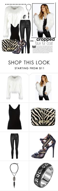 """How to wear a cropped fax fur coat"" by beautifulgirlsblog on Polyvore featuring Boohoo, Alexander Wang, Just Cavalli, Helmut Lang, Tabitha Simmons, Kendra Scott, women's clothing, women, female and woman"