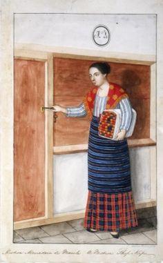 Mistisa mercadera de Manila, from a collection of watercolors by Damián Domingo. Manila, Philippine Art, Philippines Culture, Filipino Culture, Filipiniana, Historical Art, Fashion History, Women's Fashion, Asian Art