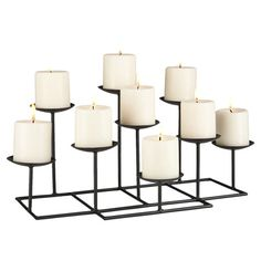 Found it at Wayfair - Emmett 9 Candle Candelabra for the fireplace in summer