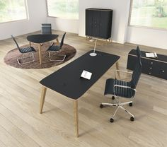 Black modern retro furniture