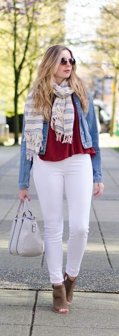 The Spring Style Staple: WHITE JEANS || Feel like you can't pull off a pair of white jeans? Click here to find out how to find your PERFECT pair and embrace this crisp style staple!
