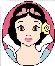Snow White hama perler beads pattern