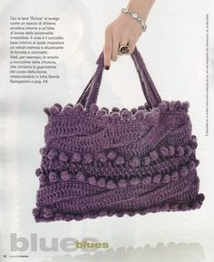 BOLSA  DE CROCHE;   Very Beautiful, but must be able to read:  svolge language... Unfortunately, I don't.  Too bad.  Lovely bag.   I want it!.
