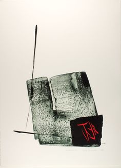 Shinoda Tōkō (Japanese, born Manchuria, 1913), Quiescence, ca. 1980, Lithograph and calligraphic brushstrokes on paper, Museum purchase: Funds provided by Travers Hill Polak.