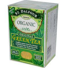 St. Dalfour, Organic, Original Green Tea, 25 Tea Bags, 1.75 oz (50 g) - iHerb.com. Bruk gjerne rabattkoden min (CEC956) hvis du vil handle på iHerb for første gang. Da får du $5 i rabatt på din første ordre (eller $10 om du handler for over $40), og jeg blir kjempeglad, siden jeg får poeng som jeg kan handle for på iHerb. :-)