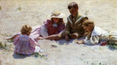 """""""Children by the Seashore"""" by Charles Courtney Curran - The Athenaeum"""