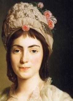 Alexander Roslin (1718-1793) - Zoie Ghika, Moldavian Princess (detail)